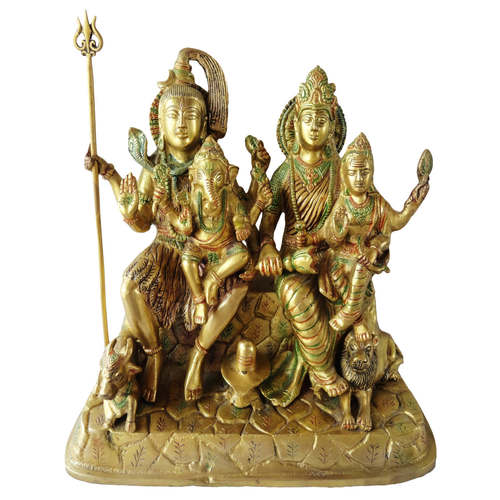 Brass Showpiece Shiv Parivar - 12 Inch (BS126)