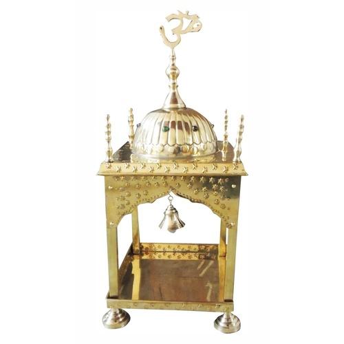 Brass Temple Mandir round Dom - 12x12x15 inch F311 E