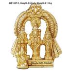 Brass Ram Dharbar Statue Murti idol 110 gm - 1.512.5 inch  BS1057 C