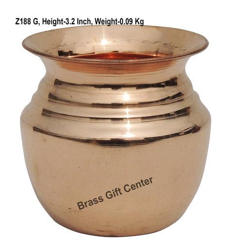 Pure Copper Lota No.5, 300 Ml - 3.2*3.2*3.2 Inch  (Z188 G)