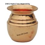 Pure Copper Lota No.2, 150 Ml - 2.52.52.7 Inch  Z188 D