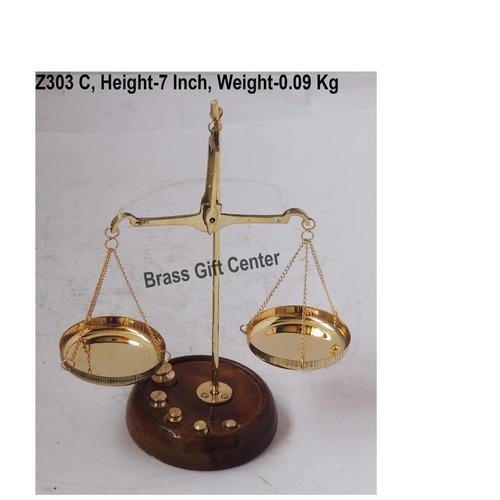 Brass Taarzu 20 gm Weighing Machine - 5.52.57 inch  Z303 C