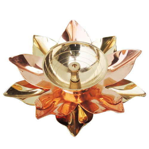 Pure Brass And Copper Diya Deepak 4 inch (Z124 B)
