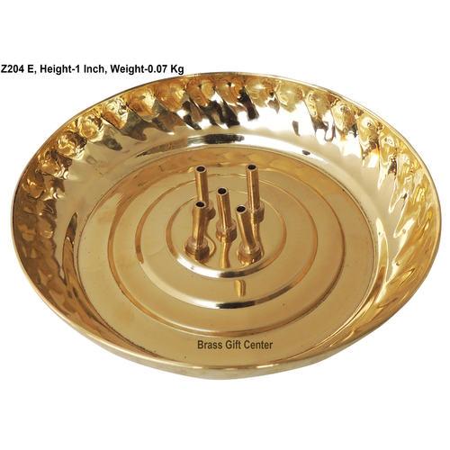 Brass Agarbatti Stand Plate Small - 5*5 Inch  (Z204 E)