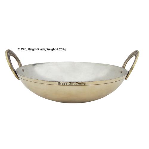 Brass Kadai With Kalai Work 2.5 liter - 10.5*10.5 Inch  (Z173 D)