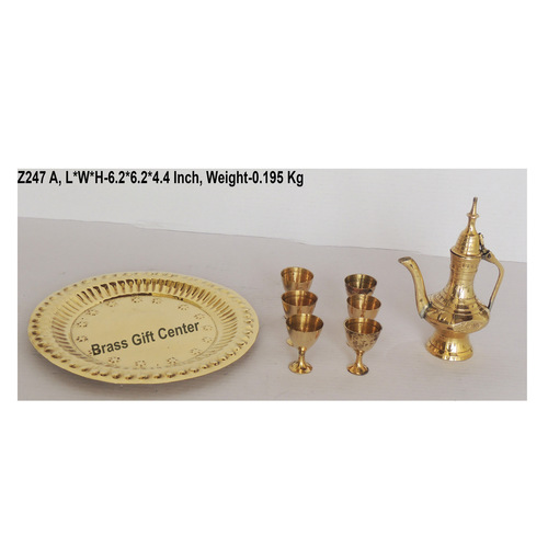 Brass Mini Miniature Wine Set for Children Playing  Z247 A6.26.24.2