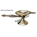 Brass Swastic Diya Deepak - 4*1.8*4 Inch  (Z144 B)