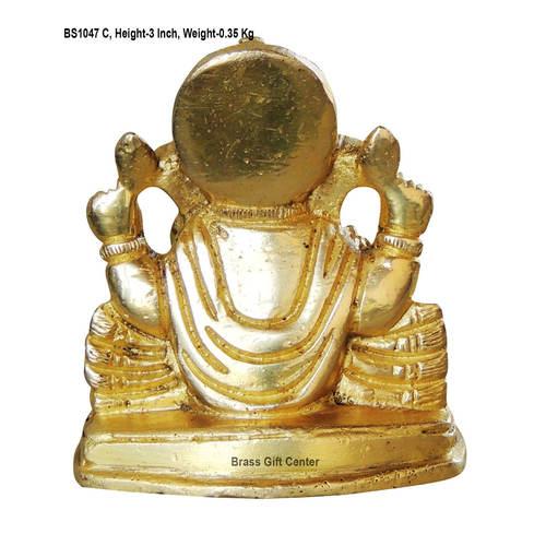 Brass Ganeshji Statue Murti idol 350 gm-2.52.53 inch  BS1047 C