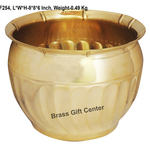 Brass planter Pot Gamala Diameter 8 inch weight 0.5 Kg  F254