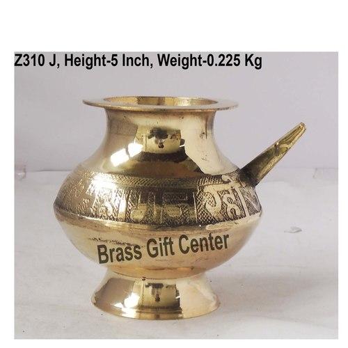 Brass Karwa Lota Polish No. 20 580 ml - 6*5.5*5 inch  (Z310 J)