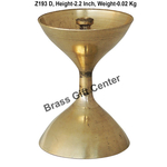 Brass Akand Diya Deepak No. 4 - 1.5*1.5*2 Inch  (Z193 D)