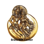 Wall hanging Shiv Parvati on moon- 9 nch AS254 G