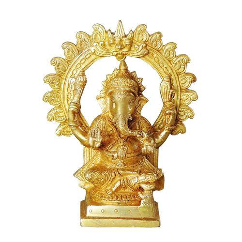 Brass Ganeshji - 3*2.5*7 Inch  (BS1037 G)