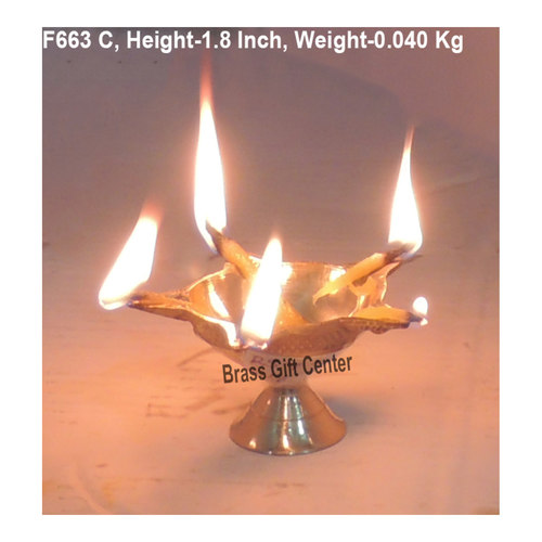 Brass Panchmukhi Star Deepak No. 0 - 3 Inch  F663 C