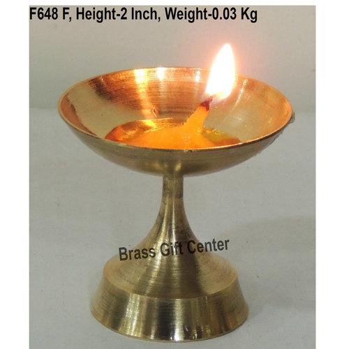 Brass Niranjan Diya Deepak No. 5 - 2x2x2 inch  (F648 F)