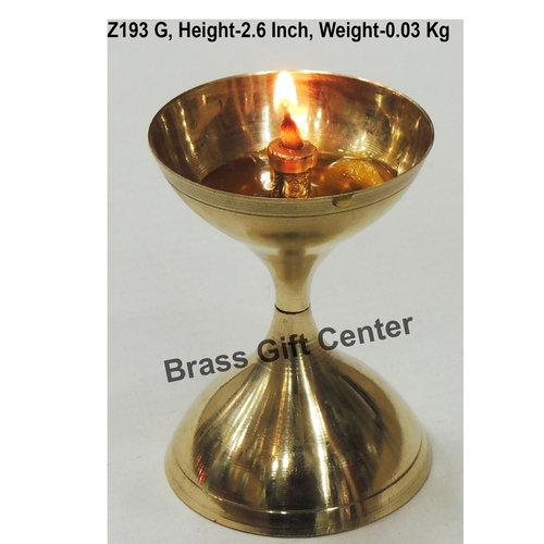 Brass Akand Diya Deepak No. 7 - 1.8*1.8*2.6 Inch  (Z193 G)