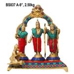 Ram Darbar Stone work  StatueMurtiIdol - 9 inch BS837 A