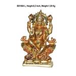 Brass Laxmi Statue Murti Idol in MultiColour Lacuquer Finish - 6.2 inch BS1064 L