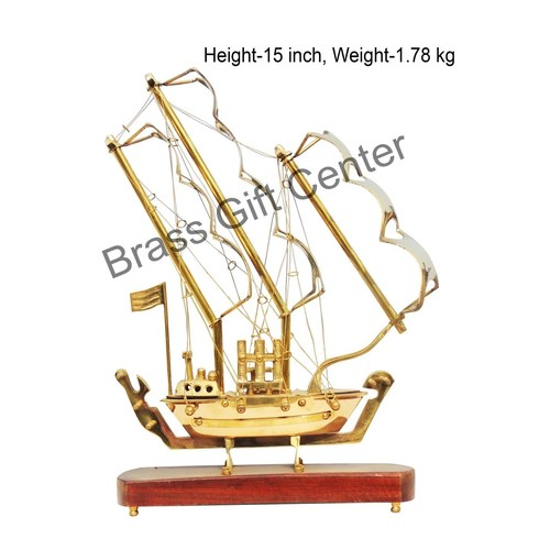 Brass Ship In Shinning Brass Polish finish - 15 Inch (MR128 B)