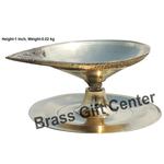 Brass Pandeep plate Diya Deepak - 2*1.8*1 inch  (Z146 B)