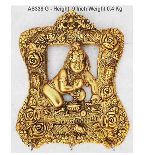 Ladu Gopal Key Holder - 7.9x9 Inch AS338 G
