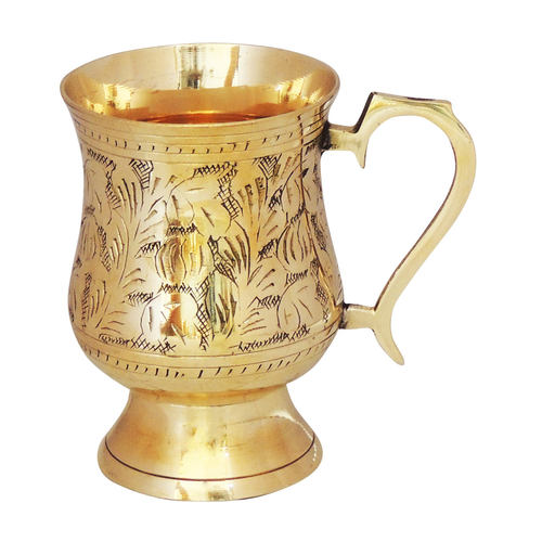 Brass Beer Mug Glass 300 Ml - 53.54.5 Inch  Z266 C