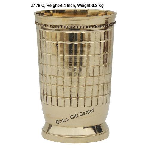Brass Glass Firki 250 Ml -  2.82.84.4 Inch  Z178 C