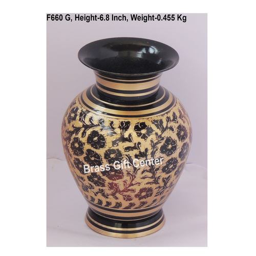 Brass Flower Vase pot with Handwork - 4.54.56.8 Inch