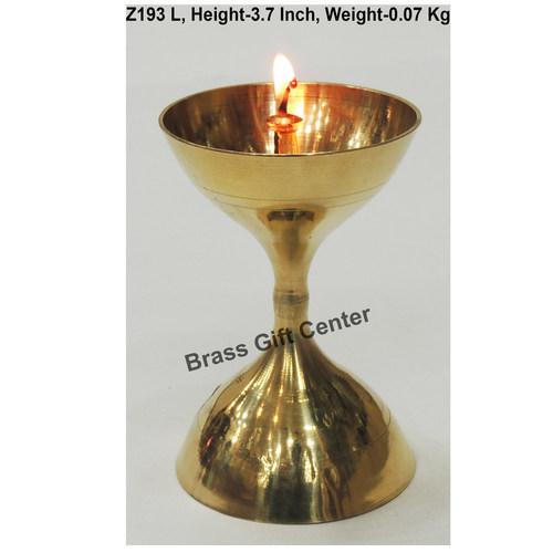 Brass Akand Diya Deepak No. 12 - 2.5*2.5*3.7 nch  (Z193 L)