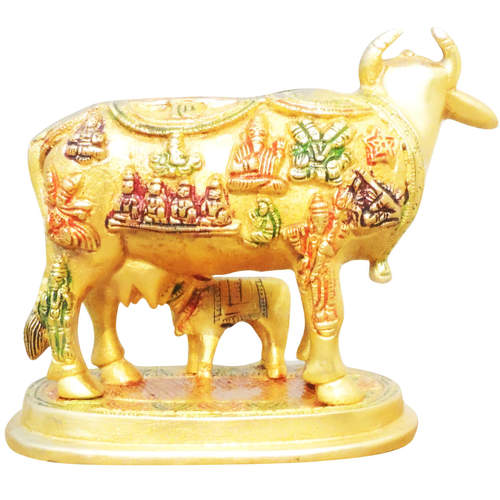 Brass Cow With Calf Gaye Bacdha 645.5 Inch  BS984 A