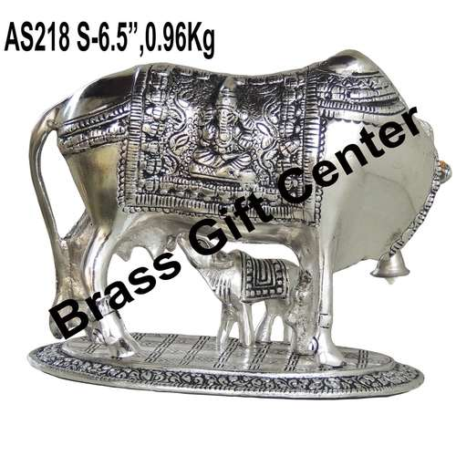 Gaye Bachdha Cow With Calf Statue - 6.5 Inch (AS218 S)