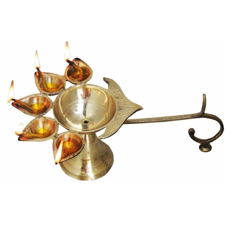 Panchmukhi Deepak Diya 10*6.5*4.5 Inch  (F317 G)