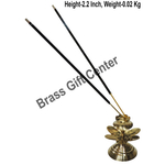 Brass Kamal Patta Agardan Agarbatti Stand Incense Holder - 222.2 inch  Z147 C