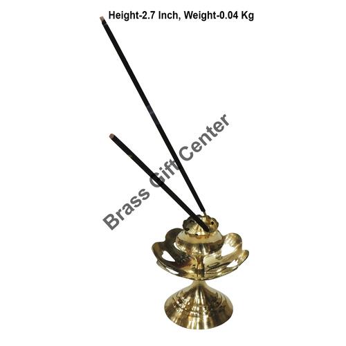 Brass Kamal Katori Agardan Agarbatti Stand Incense Holder - 2.52.52.7 inch  Z148 D