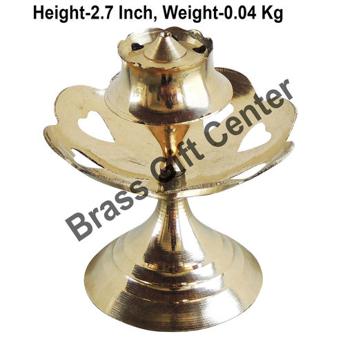 Brass Kamal Katori Agardan Agarbatti Stand Incense Holder - 2.5*2.5*2.7 inch  (Z148 D)