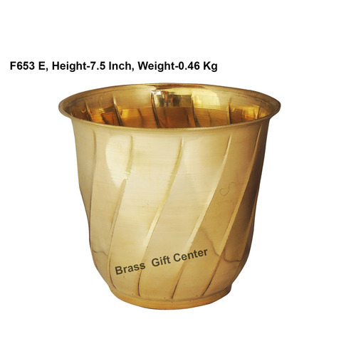 Brass planter Pot Gamala Diameter 8 Inch weight 460 gm  F653 E