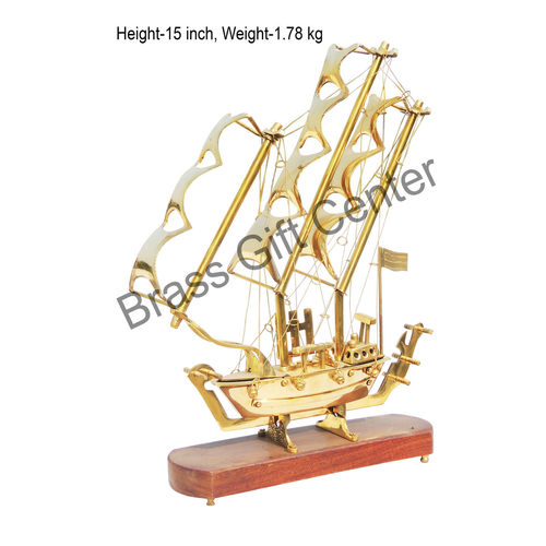 Brass Ship In Shinning Brass Polish finish - 15 Inch (MR128 B)