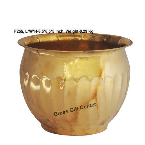 Brass planter Pot Gamala Diameter 6.5 Inch weight 300 gm  F255