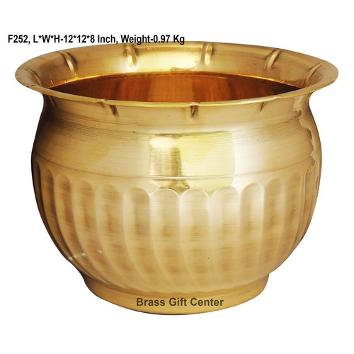 Brass planter Pot Gamala Diameter 12 Inch weight 1 Kg  F252