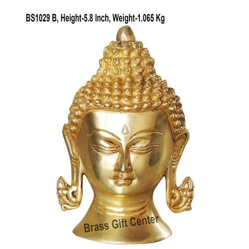 Brass Buddha Head - 42.55.8 Inch  BS1029 B