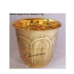 Brass planter Pot Gamala with Hand Work Diameter 10 Inch weight 700 gm  F655 E