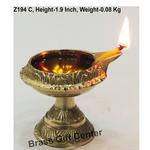 Brass Kuber Deepak Diya With Stand No. 1 - 2.5*2.1*1.9 Inch  (Z194 C)