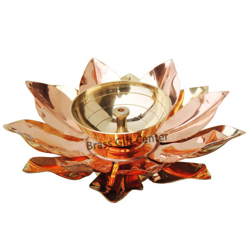 Pure Brass And Copper Diya Deepak 5.5 inch Z124 D