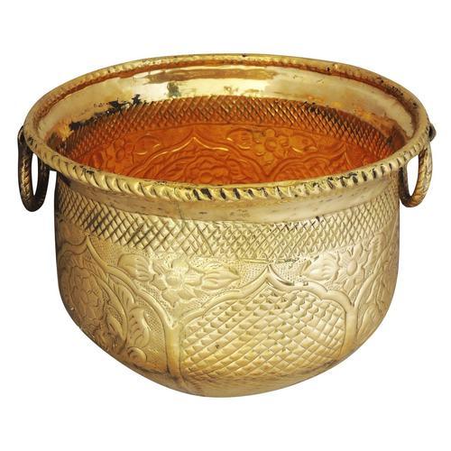 Brass planter Pot Gamala Chatai Diameter 13 inch weight 2.35 Kg  (F615 C)