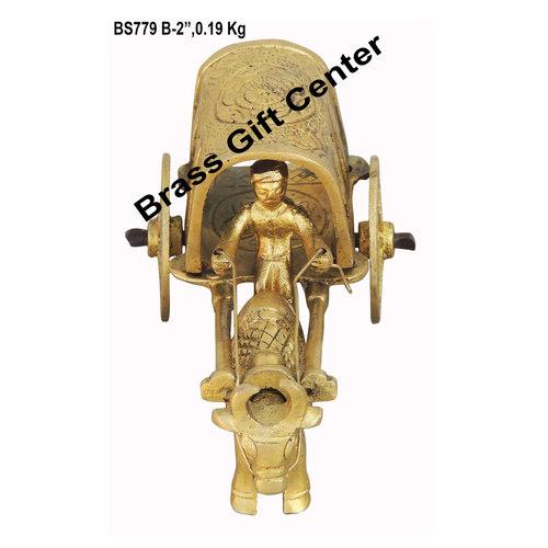 Brass Single Bull Cart - 4.4*2*2 Inch  (BS779 B)