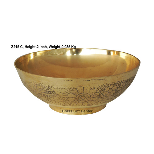 Brass Bowl Katora Embose Medium - 4.74.72 Inch  Z215 C
