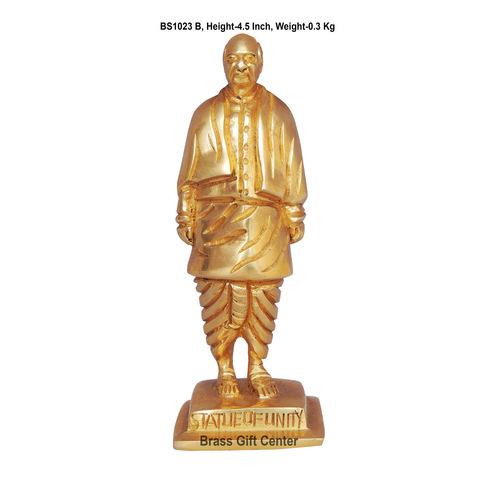 Brass Statue Of Unity Sardar Ballav Bahi Patel Murti Idol - 4.5 Inch  BS1023 B