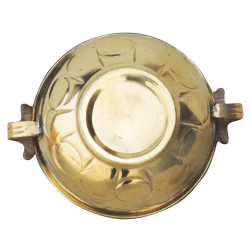 Brass Urli with Handwork Diameter 6.5 inch (F574 A)