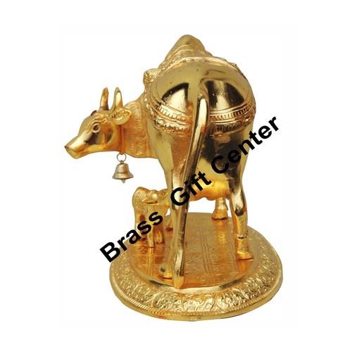 Gaye Bachdha Cow With Calf Statue - 7.5 Inch AS129 G