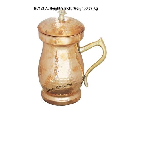 Pure Copper Jug 1.4 Litre  - 4.5*4.5*9 Inch  (BC121 A)